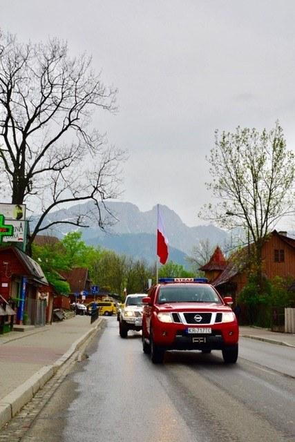Flaga w drodze do Krakowa /Paweł Gąsior /RMF FM