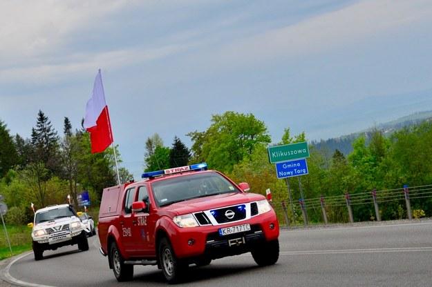 Flaga w drodze z Zakopanego do Krakowa /Paweł Gąsior /RMF FM