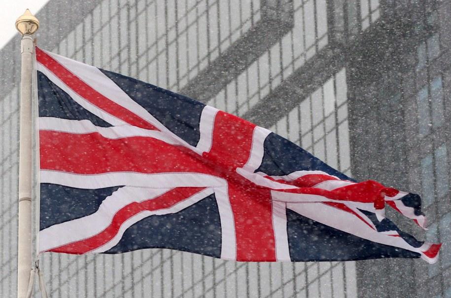 Flaga Wielkiej Brytanii /LAWRENCE LOOI    /PAP/EPA