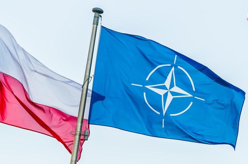 Flagi Polski i NATO /Bartosz Krupa /East News