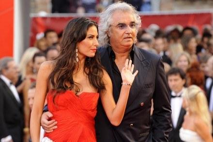 Flavio Briatore z żoną Elisabett Gregoraci /AFP