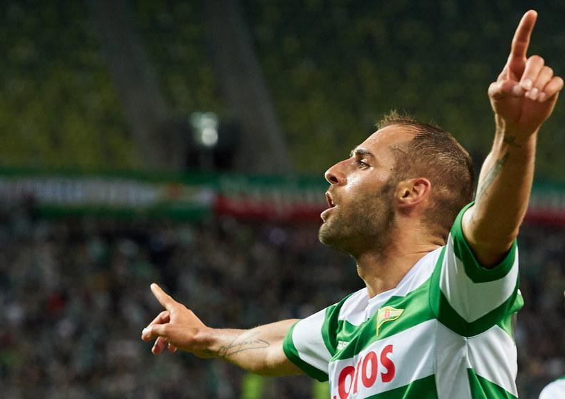 Flavio Paixao po drugim golu dla Lechii /Adam Warżawa /PAP