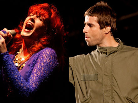 Florence Welch (Brendon Thorne/Getty) i Liam Gallagher (archiwum AFP) /