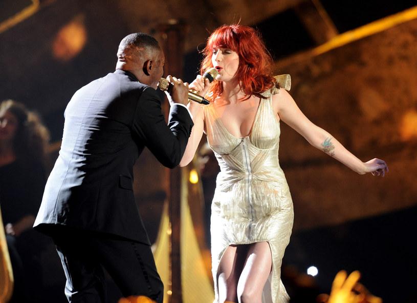 Florence Welch na scenie z Dizzee Rascalem w 2010 roku /Gareth Cattermole /Getty Images