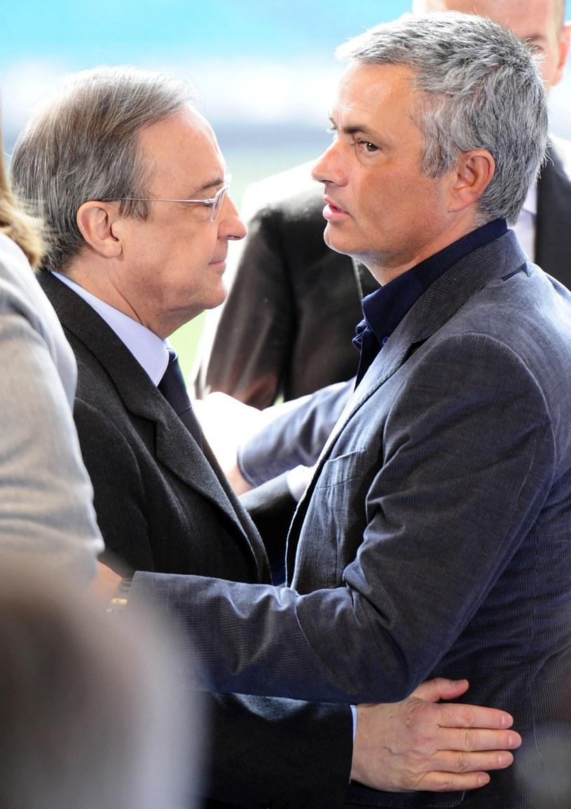 Florentino Perez (z lewej) dobrze wspomina współpracę z Jose Mourinho /AFP