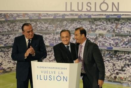 Floretino Perez (w środku). /AFP