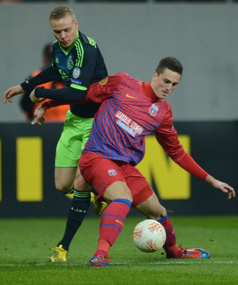 Florin Gardos zdobył jedną z bramek dla ekipy z Bukaresztu /AFP