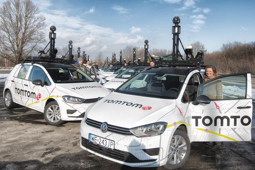 Flota samochodów testowych TomTom /materiały prasowe