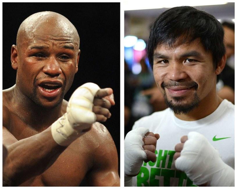 Floyd Mayweather Jr i Manny Pacquiao zmierzą się 2 maja w Las Vegas /AFP