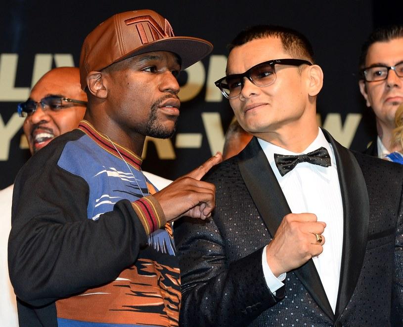 Floyd Mayweather Jr. (z lewej) i Marcos Maidana /AFP