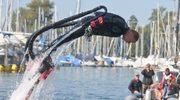 Flyboard, czyli latanie na słupie wody