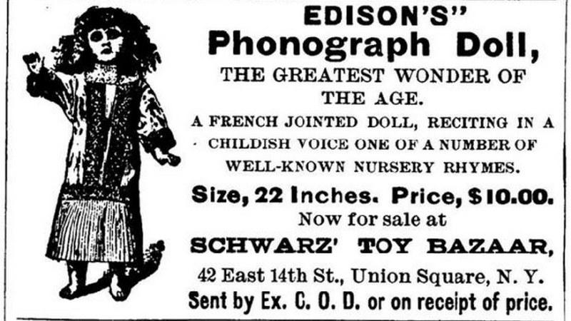Fonograficzne lalki na rynku wytrzymały zaledwie miesiąc /Wikipedia/domena publiczna /materiały prasowe
