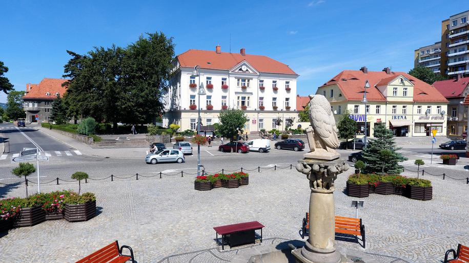 Fontanna na bielawskim rynku /Urząd Miasta Bielawa /Materiały prasowe