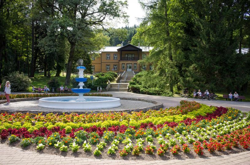 Fontanna w Parku Zdrojowym w Rymanowie-Zdroju /ANDRZEJ ZBRANIECKI /East News