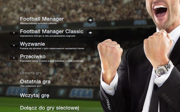 Football Manager 2013 - ekran startowy polskiej wersji językowej /Informacja prasowa