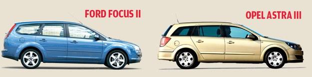 FORD FOCUS II: lata produkcji: 2004-2010 ceny: od 10 tys. zł; OPEL ASTRA III: lata produkcji: 2004-2012 ceny: od 12 tys. zł /Motor