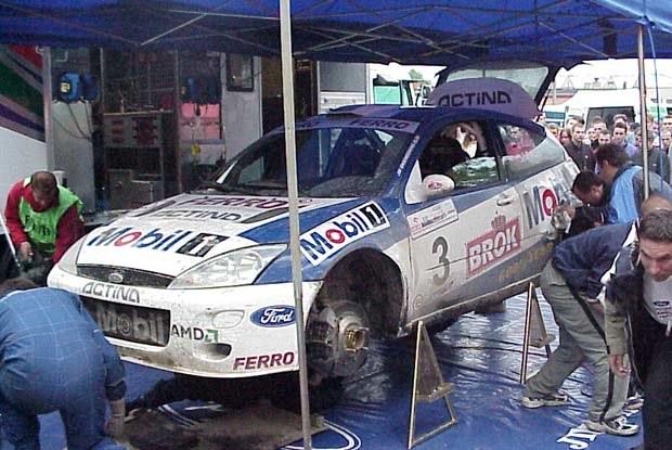 Ford Focus WRC w strefie serwisowej /INTERIA.PL