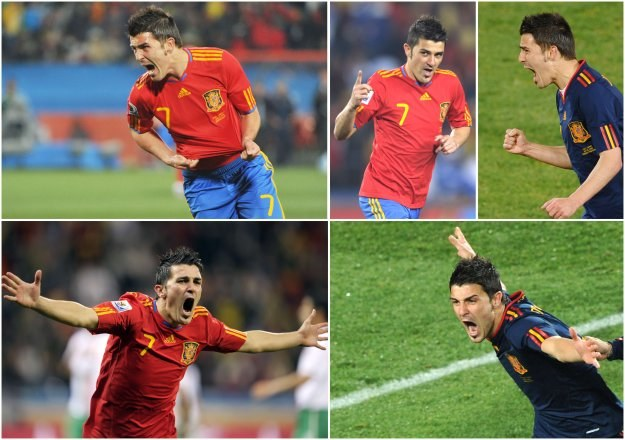 Forma Davida Villi to jeden z aututów Hiszpanów w meczu z Niemcami /AFP