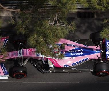 Formuła 1. Sergio Perez o mało nie wpadł w obsługę toru podczas GP Monako.