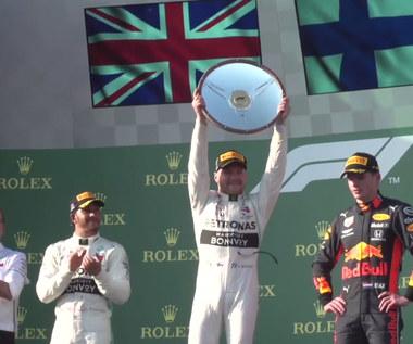 Formuła 1. Valtteri Bottas wygrał Grand Prix w Melbourne. Kubica 17. Wideo
