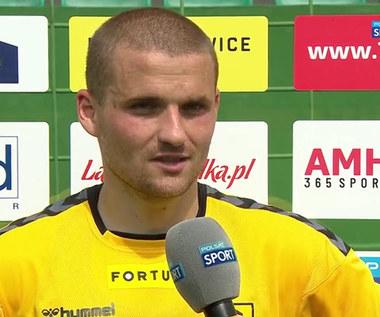 Fortuna 1 Liga. Adrian Błąd: Zaczęło się pięknym golem, a zakończyło klopsem (POLSAT SPORT). Wideo