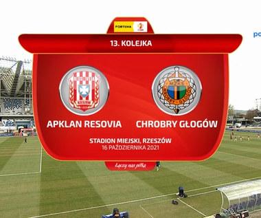 Fortuna 1 Liga. Apklan Resovia - Chrobry Głogów 3-0. Skrót. WIDEO (Polsat Sport)
