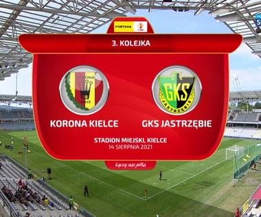 Fortuna 1 Liga. Korona Kielce - GKS Jastrzębie 2-1. Gole (ZDJĘCIA POLSAT SPORT). Wideo