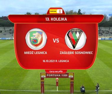 Fortuna 1 Liga. Miedź Legnica - Zagłębie Sosnowiec. Wszystkie bramki. WIDEO (Polsat Sport)