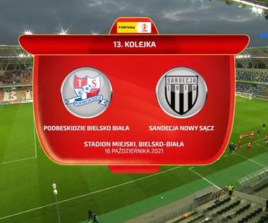 Fortuna 1 Liga. Podbeskidzie Bielsko-Biała - Sandecja Nowy Sącz. Gol. WIDEO (Polsat Sport)
