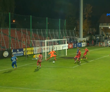 Fortuna 1 Liga. Puszcza Niepołomice - Odra Opole 3-0. Bramki. WIDEO (Polsat Sport)