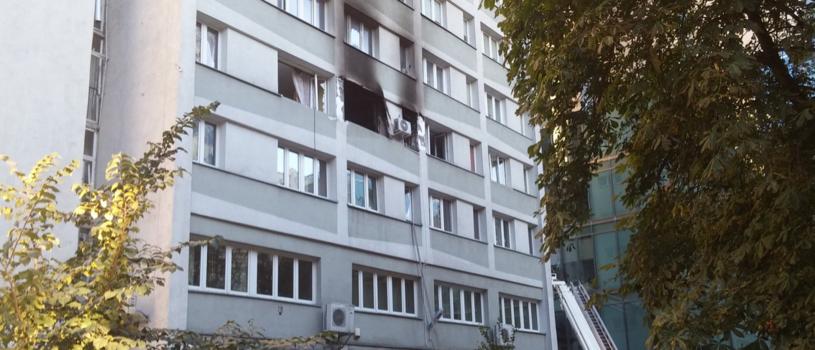 Fot. budynku, w którym doszło do wybuchu /Twitter