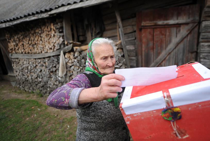 Fot. z wyborów na Białorusi /AFP