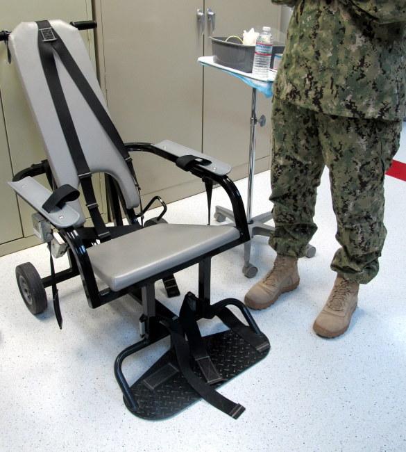 Fotel do przymusowego karmienia więźniów /Inga Czerny  /PAP