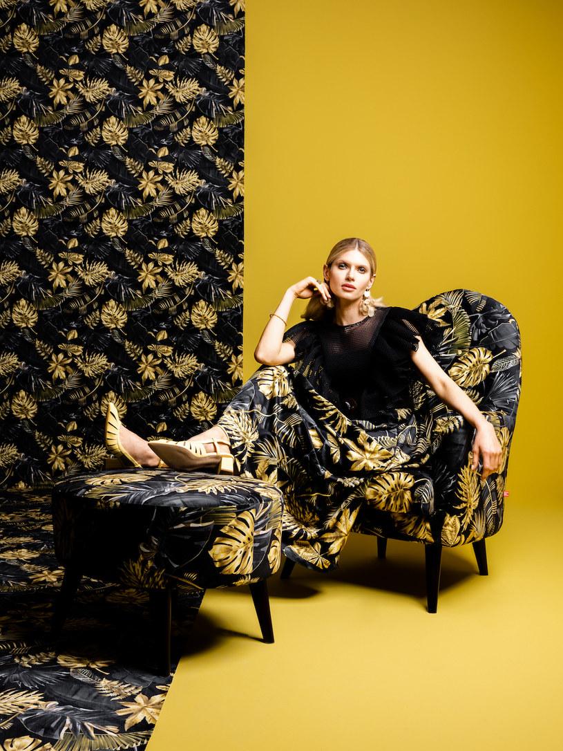 Fotel i puf Emilly z limitowanej kolekcji mebli wypoczynkowych Fashion Trends /materiały promocyjne