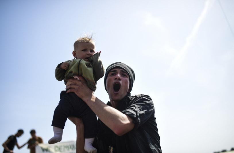 Fotografia z protestów migrantów w Grecji /AFP