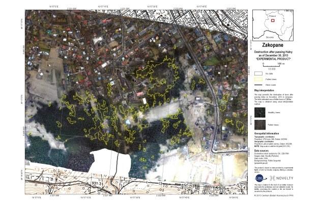 Fotomapa zniszczeń po wichurze /materiały prasowe