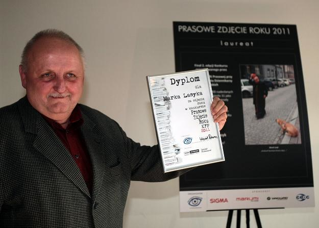 Fotoreporter Marek Lasyk został zwycięzcą konkursu / fot. Leszek Szymański /PAP