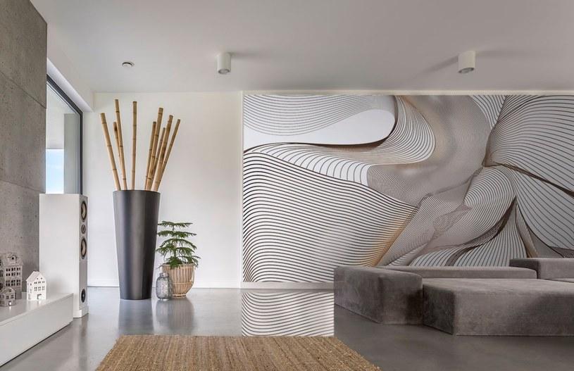 """Fototapeta dla wnętrza wabi sabi - to gustowne połączenie minimalizmu i orientalnego wdzięku, subtelny abstrakcyjny motyw i """"drogie"""" kolory /materiały promocyjne"""