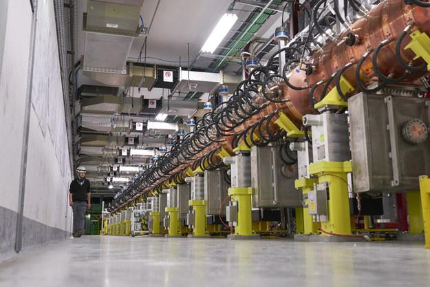 Fragment akceleratora Linac4, widać zbudowane w NCBJ miedziane wnęki rezonansowe /Maximilien Brice/CERN /Materiały prasowe