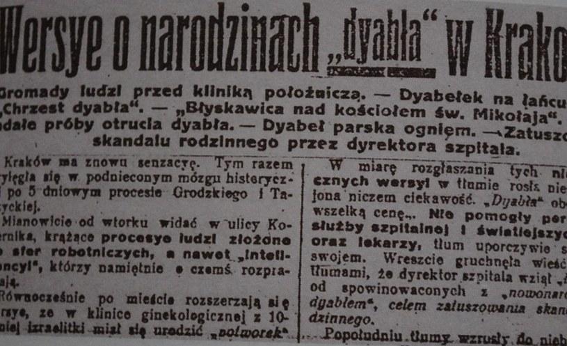 """Fragment dziennika """"Naprzód"""" z 20 czerwca 1920 roku /Wikimedia Commons /materiały prasowe"""