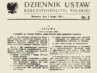 Fragment Dziennika Ustaw z 5 II 1946 r. Z ustawą nacjonalizacji przedsiębiorstw /Encyklopedia Internautica