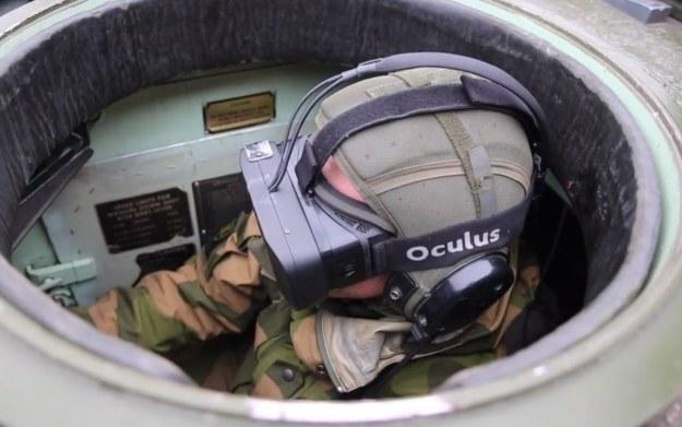 Fragment filmu prezentującego wykorzystanie Oculus Rifta w armii. Materiał znaleziony w serwisie Tu.no /materiały prasowe