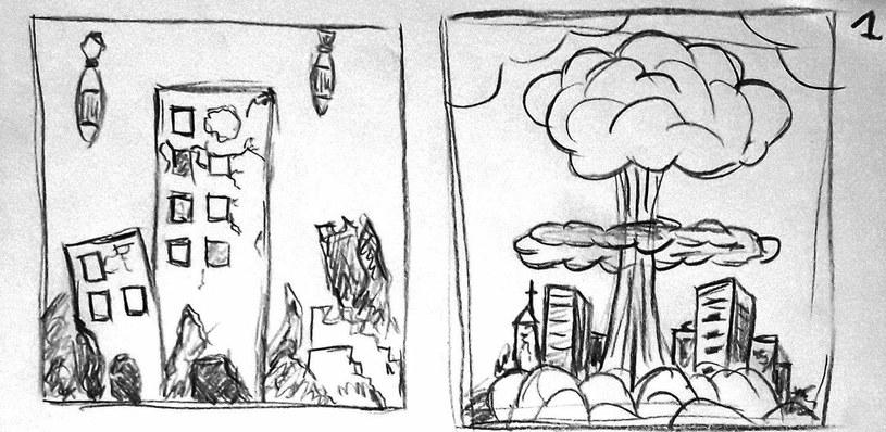 Fragment ilustracji opowiadających historię gry Puszka Pandory - zdjęcie zamieszczone w serwisie pixelpost.pl /materiały źródłowe