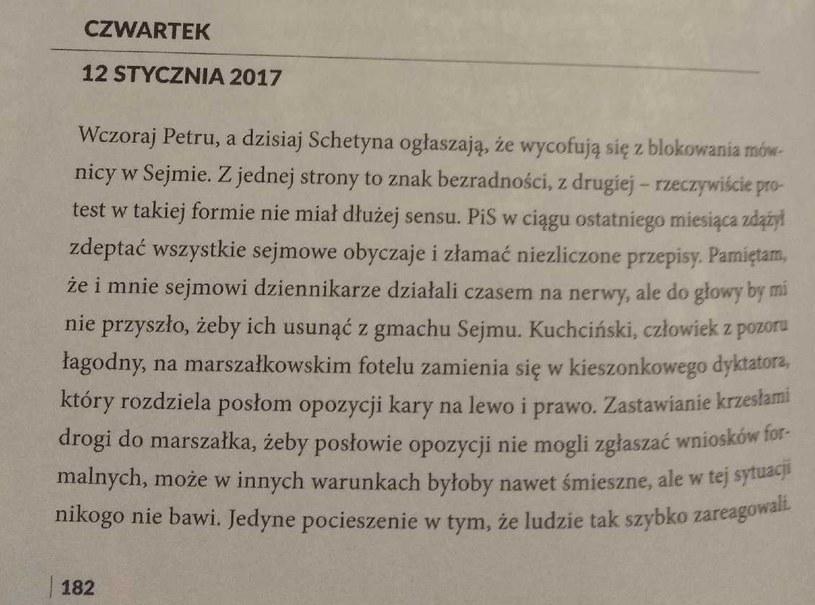 """Fragment książki Donalda Tuska """"Szczerze"""" /INTERIA.PL"""
