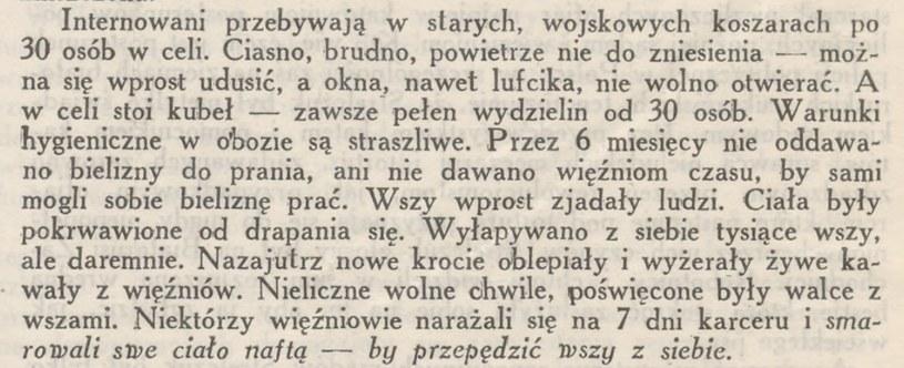 """Fragment listu opublikowany w """"Informacjach Prasowych"""" /domena publiczna"""
