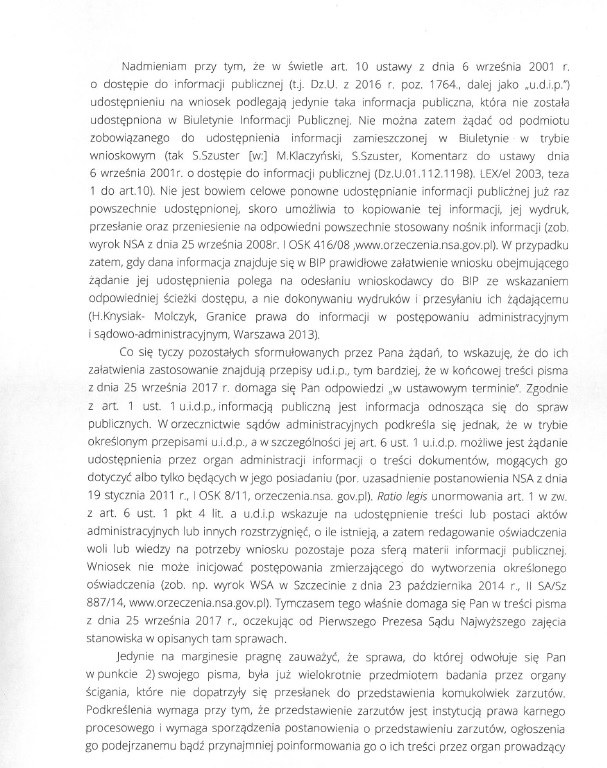 fragment listu /Zrzut ekranu /