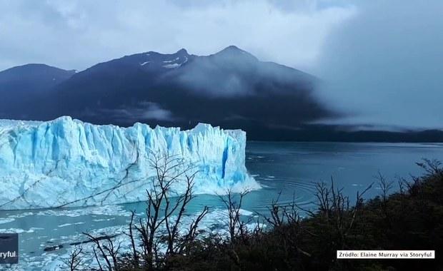 Fragment lodowca runął do jeziora w Argentynie