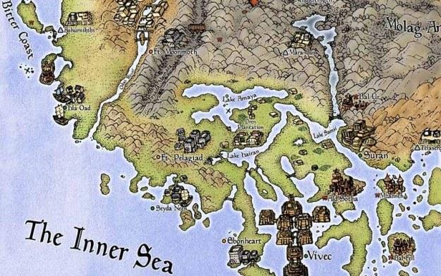 Fragment mapy świata Morrowind /Informacja prasowa