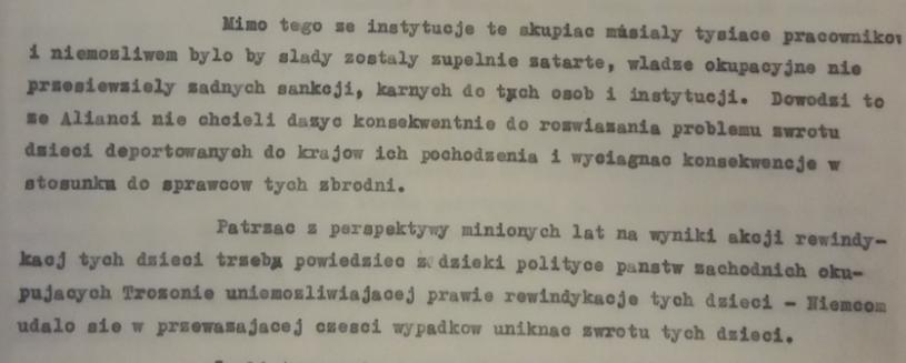 Fragment notatki Polskiego Czerwonego Krzyża /Archiwum