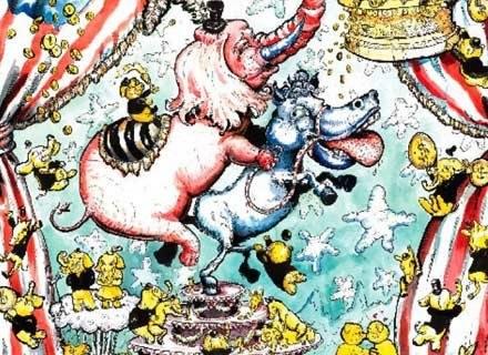 "Fragment obrazu Molly Crabapple ""Politics"". Źródło: mos.dreamhosters.com /Internet"